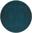 rug #1104342 | round blue faded rug