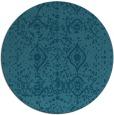 rug #1104346   round blue-green borders rug