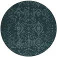 rug #1104350 | round blue-green traditional rug