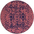 rug #1104370 | round pink traditional rug