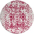 rug #1104394 | round red traditional rug