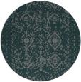 rug #1104406 | round green damask rug