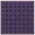 rug #110441 | square purple circles rug