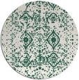 rug #1104410 | round green damask rug