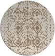 rug #1104430 | round mid-brown traditional rug