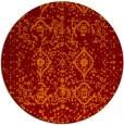 rug #1104478 | round red-orange borders rug