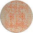 rug #1104486 | round orange traditional rug