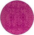 rug #1104494 | round pink damask rug