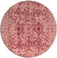 rug #1104502 | round pink borders rug