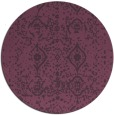 rug #1104510 | round purple traditional rug