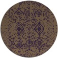 rug #1104518 | round purple faded rug