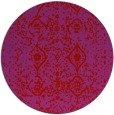 rug #1104538   round red faded rug