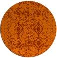 rug #1104542   round red-orange traditional rug