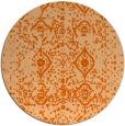 rug #1104546 | round red-orange rug
