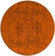 rug #1104550   round red-orange damask rug