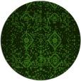 rug #1104558 | round light-green damask rug