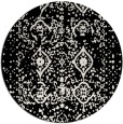 rug #1104562 | round black traditional rug