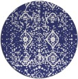 rug #1104570 | round blue traditional rug