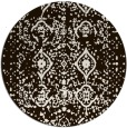 rug #1104574 | round brown damask rug