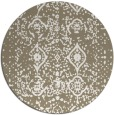 rug #1104586 | round white faded rug