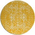 rug #1104590 | round yellow damask rug