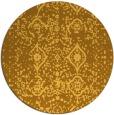 rug #1104602 | round yellow damask rug