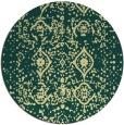 rug #1104606 | round yellow damask rug