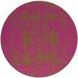 rug #1104618 | round light-green damask rug