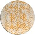 rug #1104638 | round light-orange traditional rug
