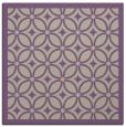 rug #110525 | square purple circles rug