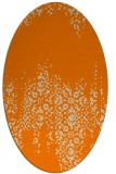 rug #1105378 | oval orange traditional rug