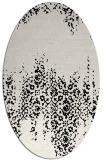 rug #1105382 | oval white traditional rug