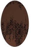 rug #1105394 | oval brown rug