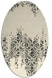 rug #1105402 | oval black traditional rug