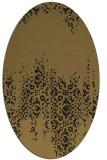 rug #1105406 | oval black traditional rug