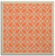 rug #110541 | square orange circles rug