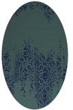 rug #1105418 | oval blue rug