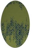 rug #1105422 | oval blue faded rug