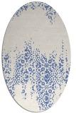 rug #1105426 | oval blue damask rug