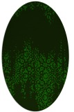 rug #1105438 | oval green traditional rug