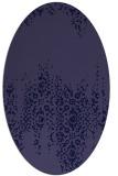 rug #1105466   oval blue-violet faded rug