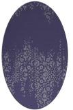 rug #1105470   oval blue-violet faded rug