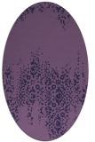rug #1105478   oval purple traditional rug