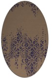 rug #1105486 | oval beige traditional rug