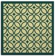 rug #110549   square yellow circles rug