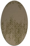 rug #1105494 | oval mid-brown faded rug