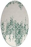 rug #1105514 | oval green traditional rug