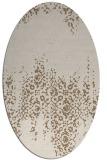 rug #1105534 | oval beige traditional rug