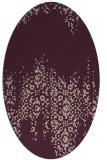 rug #1105542 | oval pink traditional rug