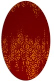 rug #1105582 | oval red-orange damask rug